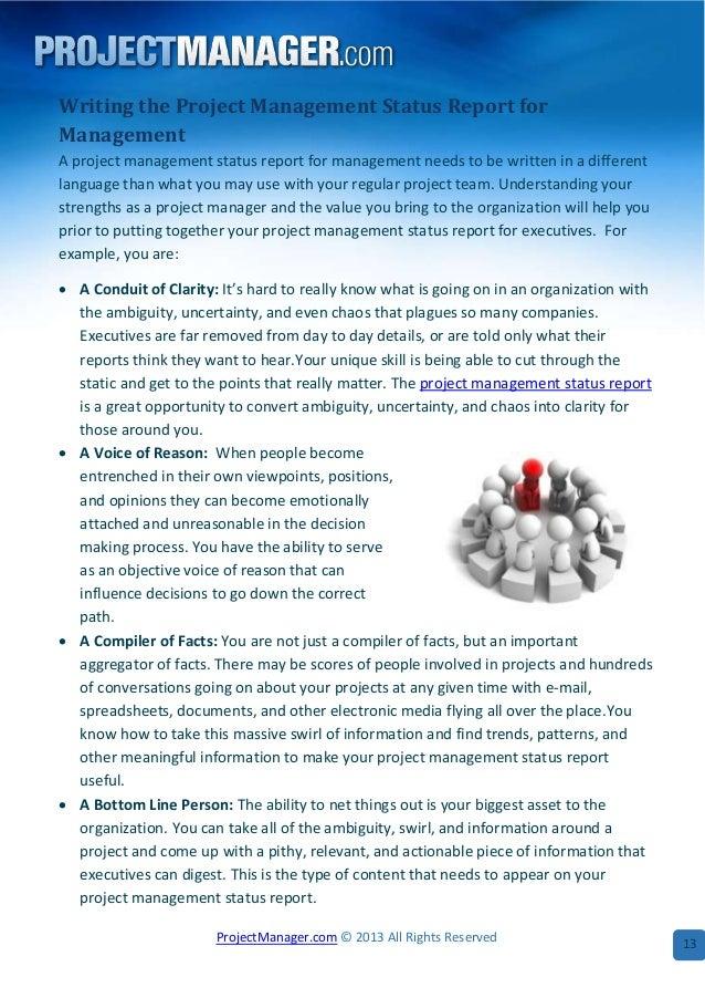 status report project management