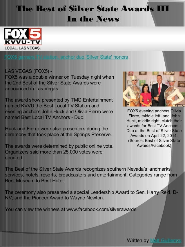 The Best of Silver State Award XV - Latino Awards- Sponsorship