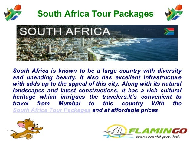South Africa Tour Packages South Africa is known to be a large country with diversity and unending beauty. It also has exc...