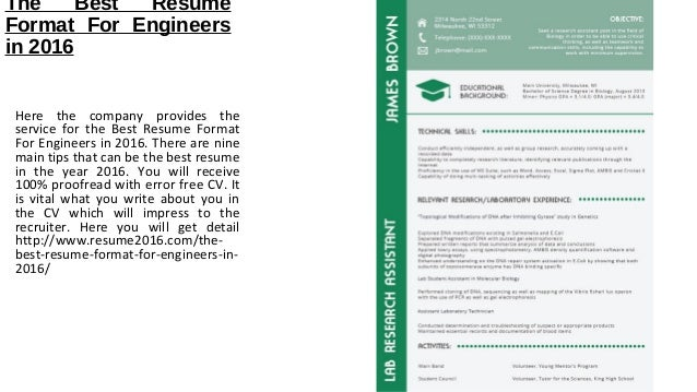 the best resume format for engineers in 2016 here the company provides the service for the