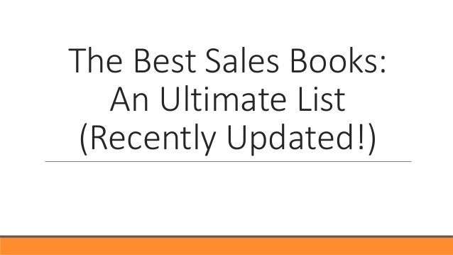 The Best Sales Books: An Ultimate List (Recently Updated!)