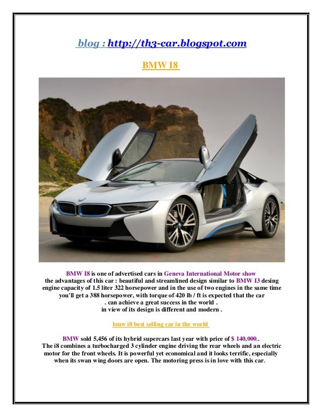 The Best Selling Car In The World Bmw I8