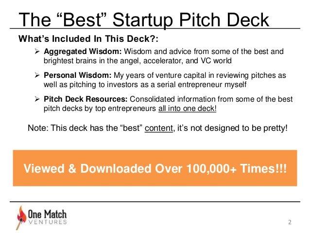 The Best Startup Pitchdeck [Updated]  Slide 2