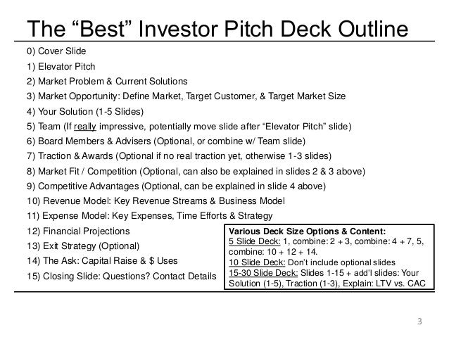 The Best Startup Investor Pitch Deck & How to Present to Angels & Venture Capitalists Slide 3