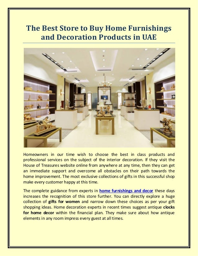 The Best Store To Buy Home Furnishings And Decoration Products In Uae