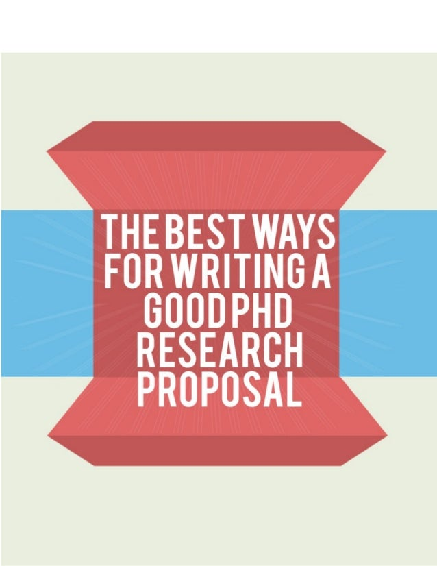 Writing a good phd proposal