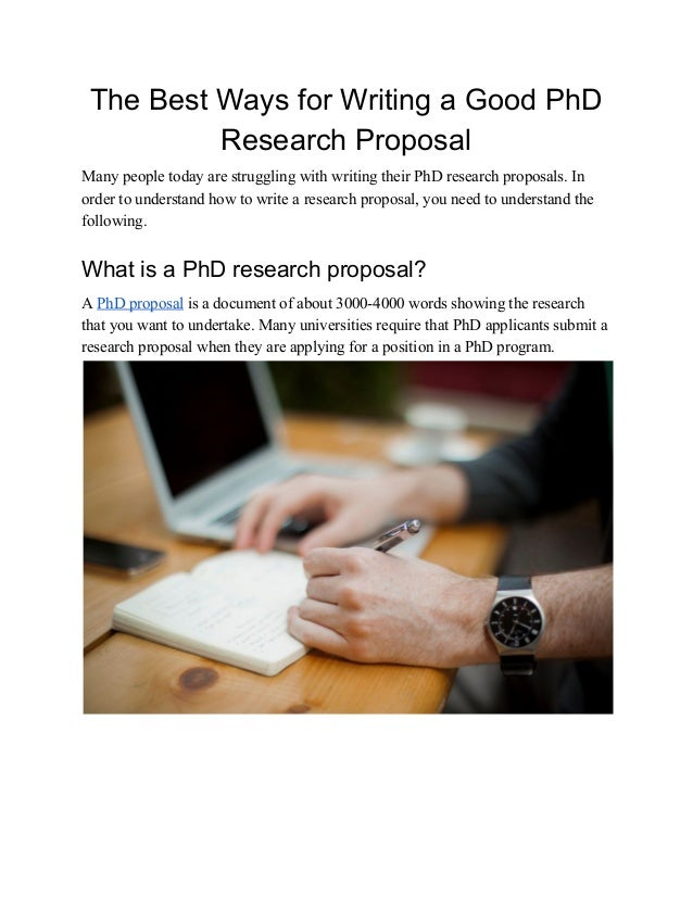 How to write a phd project