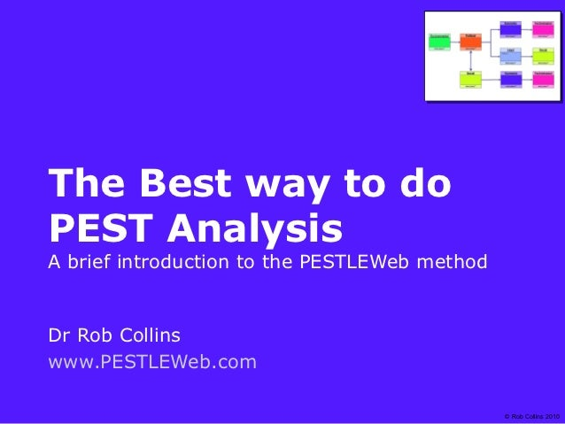 The Best way to doPEST AnalysisA brief introduction to the PESTLEWeb methodDr Rob Collinswww.PESTLEWeb.com                ...