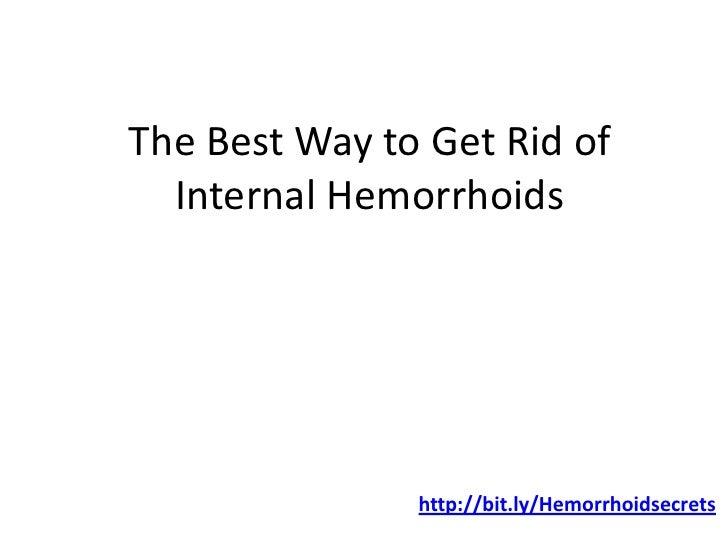 Natural Way To Rid Of Hemorrhoids