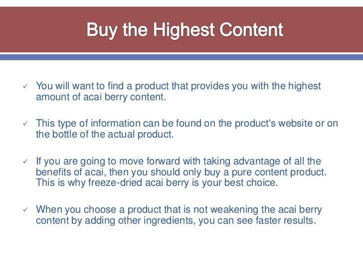 Do You know What Is The Best Way To Purchase Acai Berry?