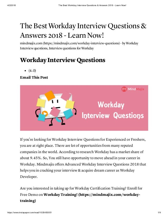 The best workday interview questions &