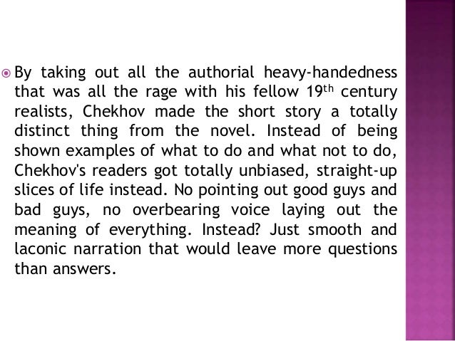 chekhov essay questions What different roles do chekhov's female characters play—are they primarily a  background feature or a strong presence within his tales how does the author.