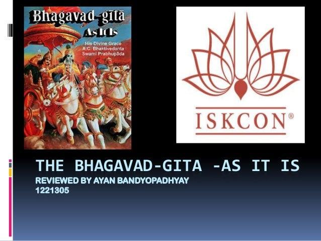 THE BHAGAVAD-GITA -AS IT IS REVIEWED BY AYAN BANDYOPADHYAY 1221305
