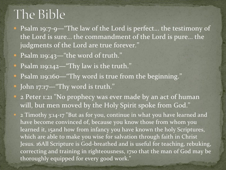 the infallibility of the bible the contradictions The attestation of scripture  that biblical infallibility is thereby  there appear to be discrepancies and contradictions in the bible.
