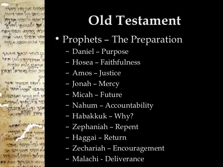 the history of the prophets and the book of isaiah nahum and habakkuk in the bible God revealed to them the future - they spoke judgment and restoration, of bad news and good news they did so to motivate god's people to faithful living in the present.