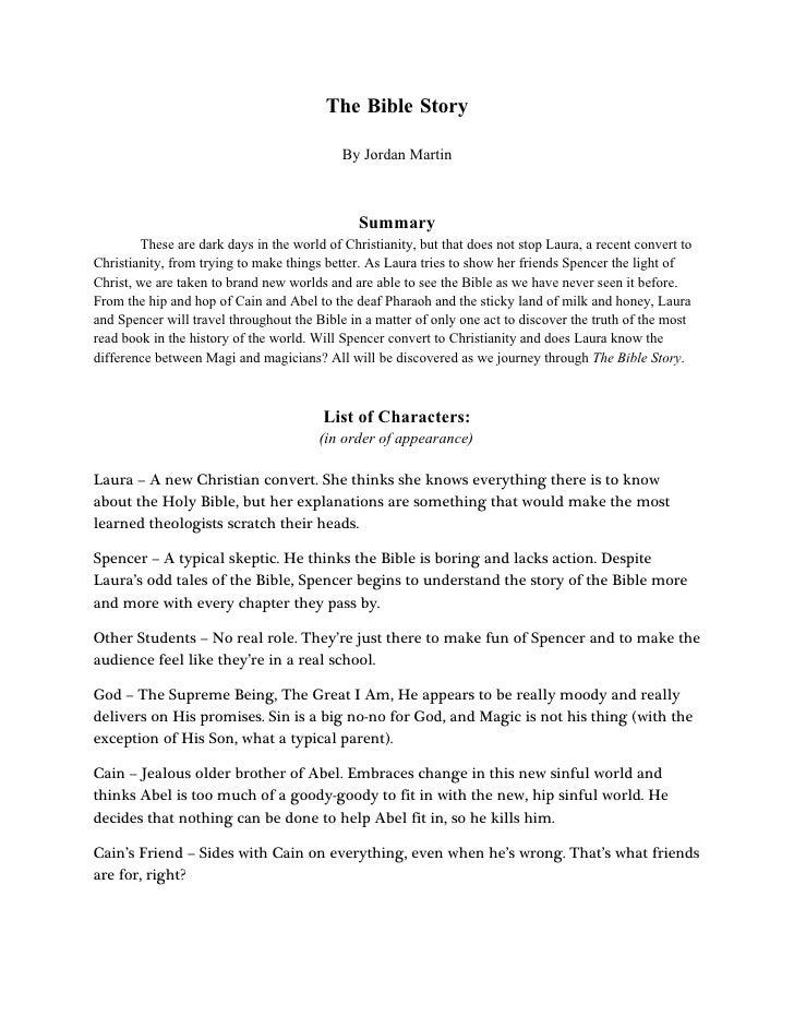 The Bible Story                                              By Jordan Martin                                             ...
