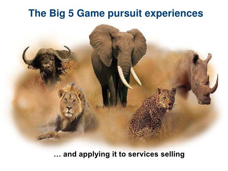the big5 game pursuits. Black Bedroom Furniture Sets. Home Design Ideas