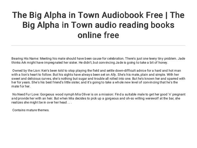The Big Alpha in Town Audiobook Free | The Big Alpha in Town