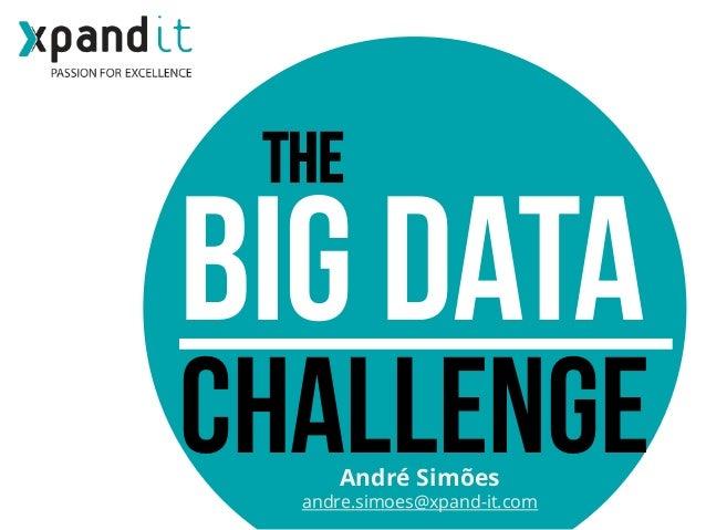 THE  BIG DATA  challenge André Simões  andre.simoes@xpand-it.com