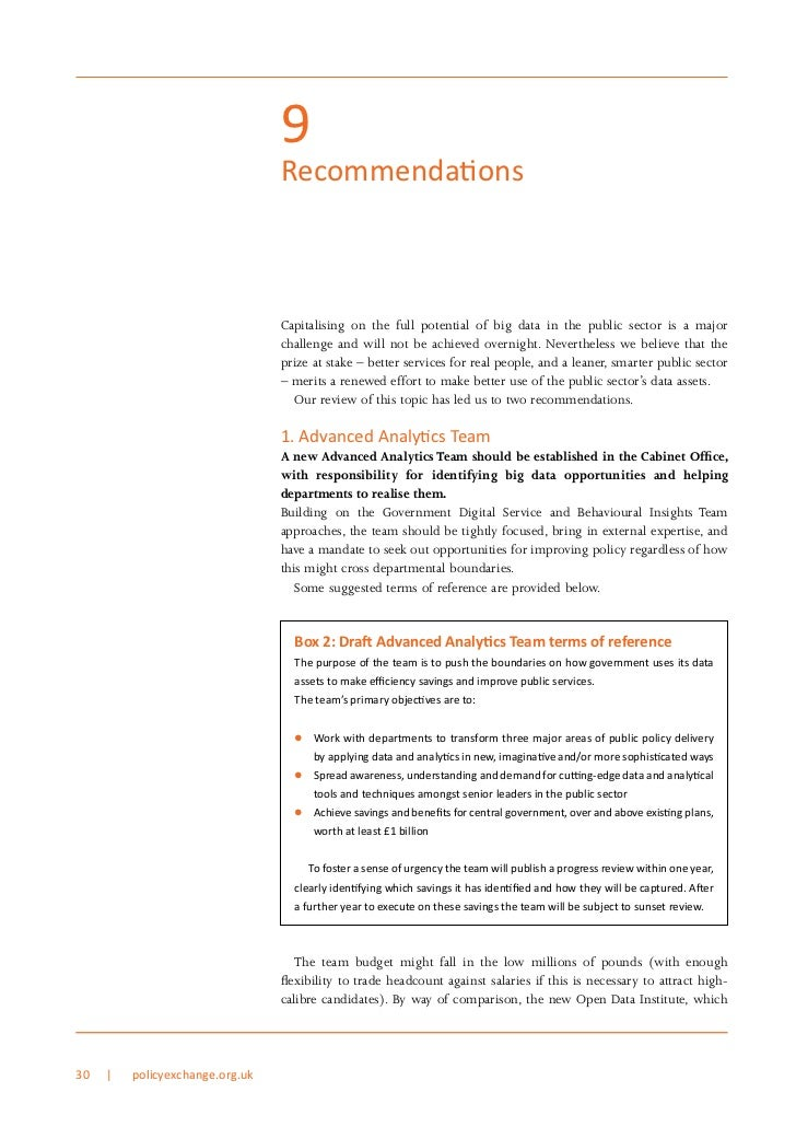 9                                 Recommendations                                 Capitalising on the full potential of bi...