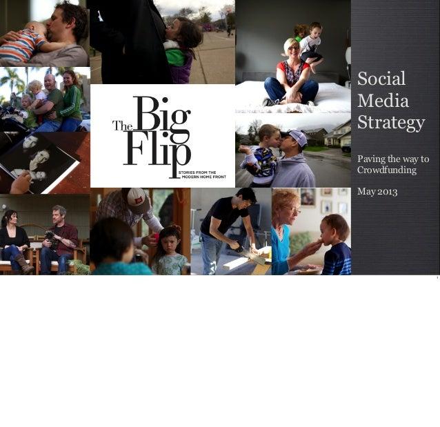 SocialMediaStrategyPaving the way toCrowdfundingMay 2013Pre-Crowdfunding CampaignMay 20131
