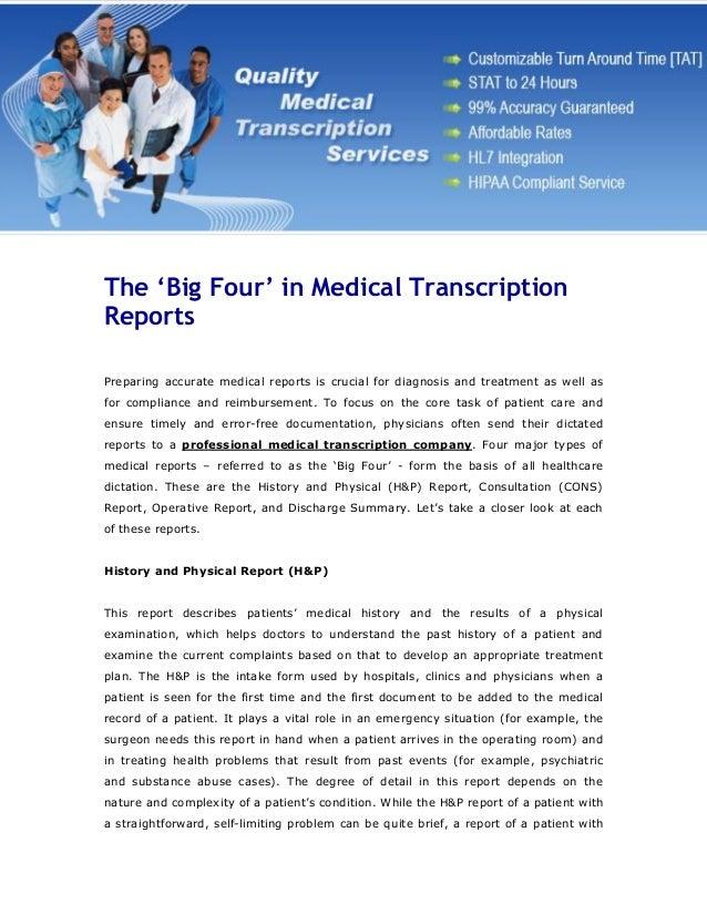 MEDICAL TRANSCRIPTION FILES  Medical Transcription Report