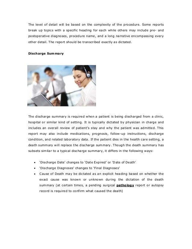 Medical Transcription Course: Eligibility, Fee, Duration ...  Medical Transcription Report