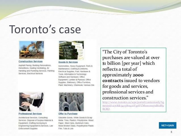 """Toronto's case """"The City of Toronto's purchases are valued at over $1 billion [per year] which reflects a total of approxi..."""