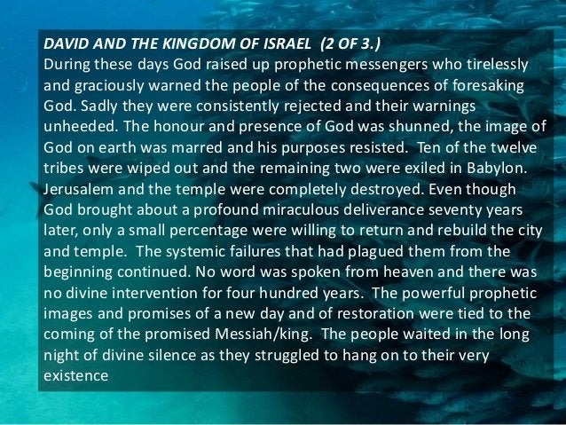 JESUS AND THE KINGDOM OF GOD (3 of 3) Adam, Noah, Abraham and the people of Israel had failed to fulfill the commission th...