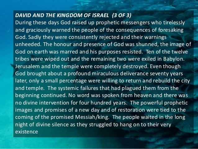 THE NEW HEAVENS AND THE NEW EARTH (1 OF 2) The message and ministry of the kingdom of God has been described as the future...