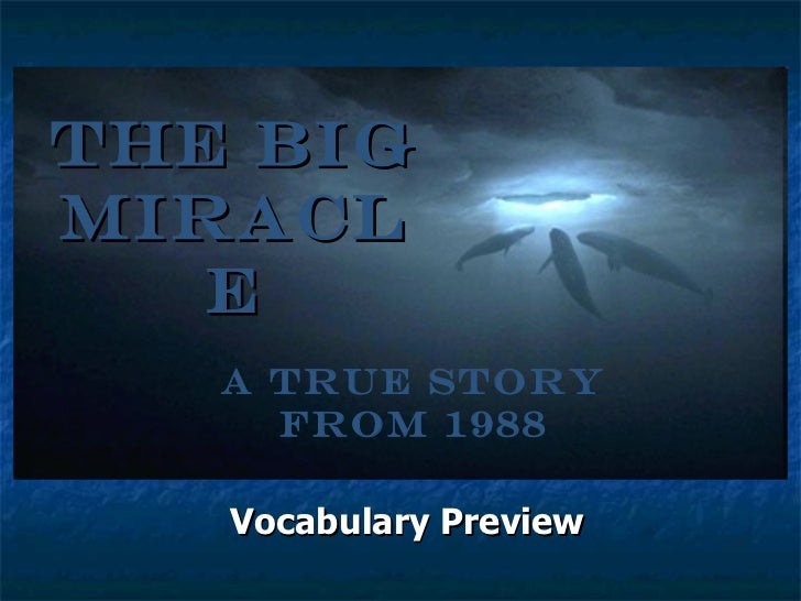 The Big Miracle Vocabulary Preview A True Story from 1988