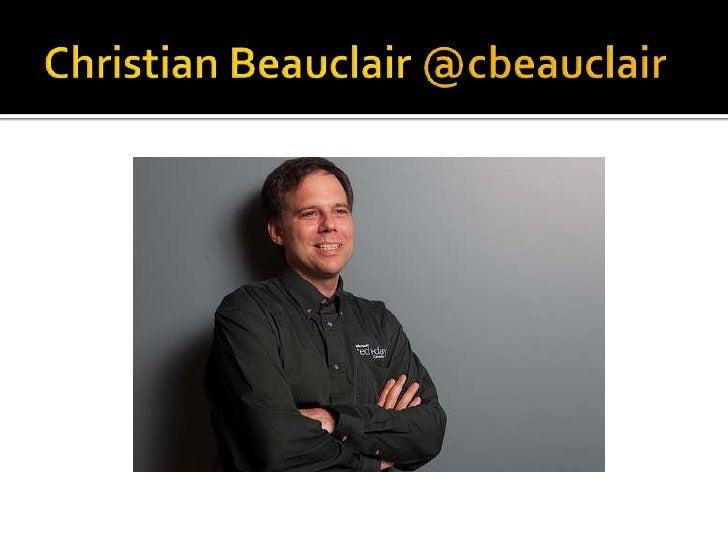 Christian Beauclair @cbeauclair<br />