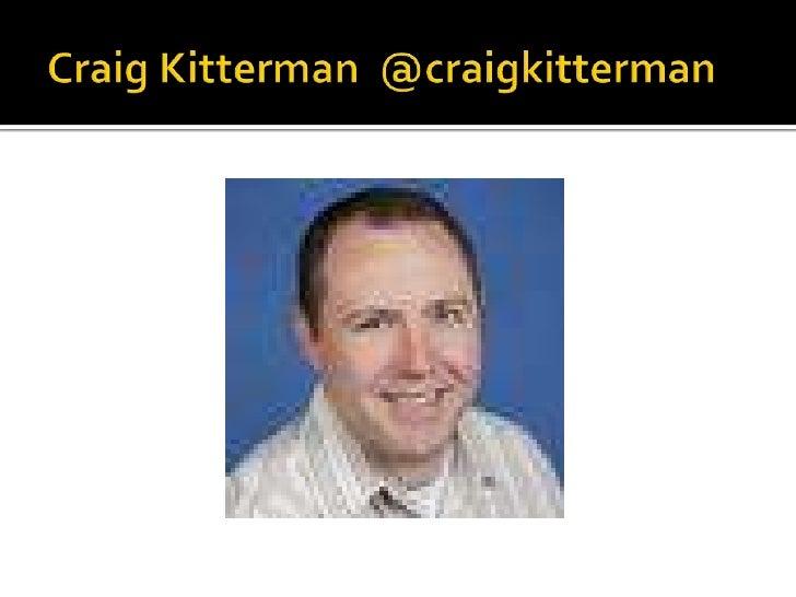 Craig Kitterman  @craigkitterman<br />