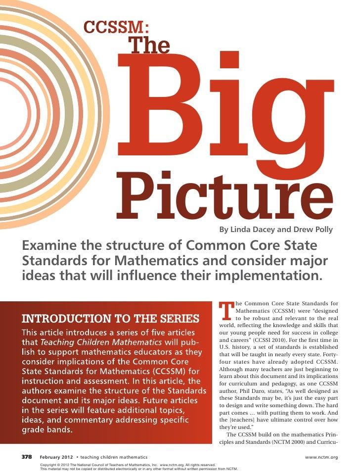 CCSSM:                                                    big                                                           Th...