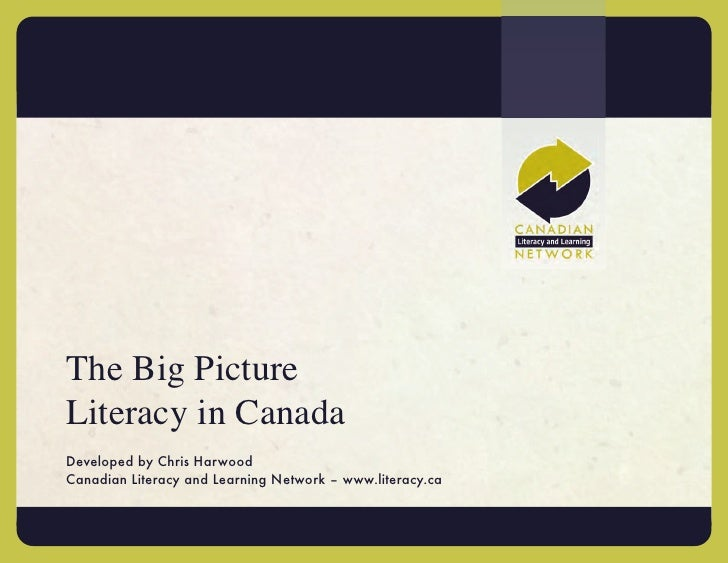 The Big PictureLiteracy in CanadaDeveloped by Chris HarwoodCanadian Literacy and Learning Network – www.literacy.ca
