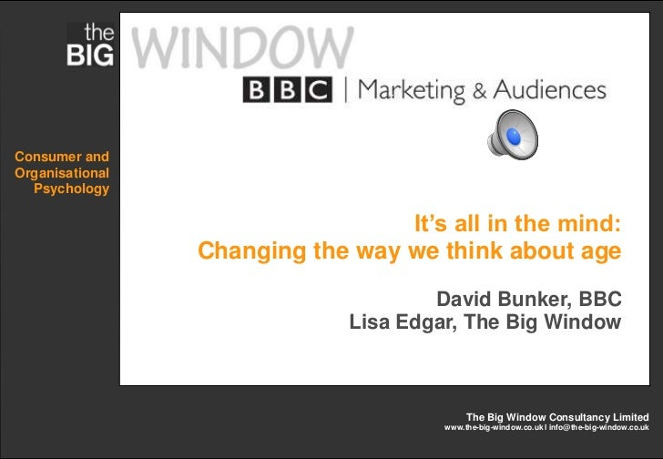 Consumer andOrganisational  Psychology                                  It's all in the mind:                 Changing the...