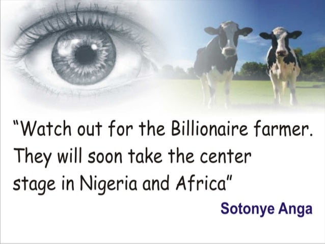 The billionaire farmer by sotonye anga