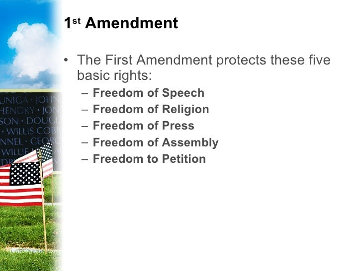 why the 1st amendment is the hanna laikin essay on the 1st amendment mr fumusa school of government with its adoption on december 15, 1791, the first amendment, along with the rest of the bill of rights, set out to ensure civil liberties for all citizens within the constitution.