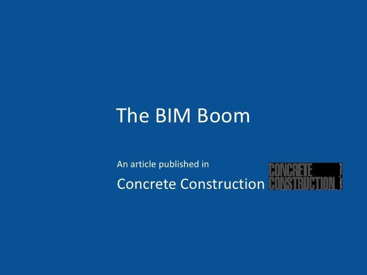 The BIM BoomAn article published inConcrete Construction