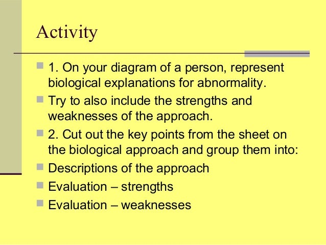 strengths and weaknesses of the biological
