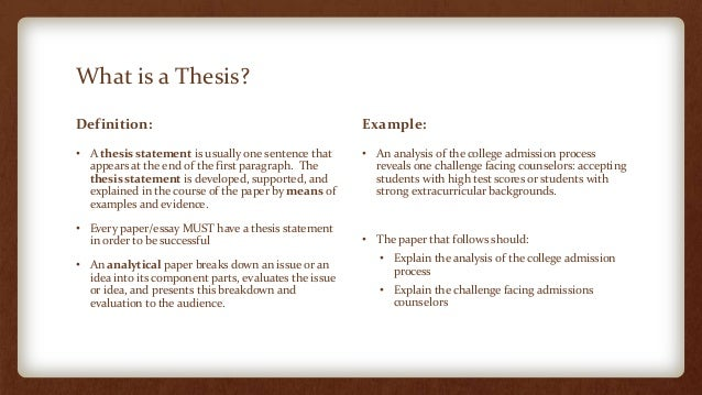 Writing A Thesis Statement Ppt Download Argumentative Essay Thesis The  Thesis Statement Or Main Claim Must