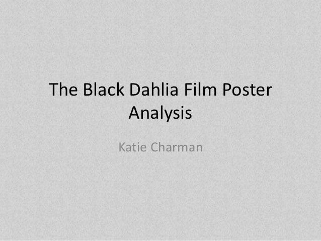 The Black Dahlia Film Poster          Analysis        Katie Charman