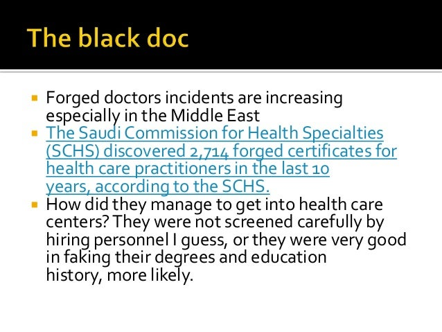 the black doc  discover the forged doctor using credential