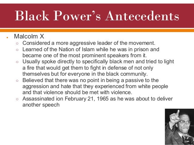 an overview of the black power movement Soon after he was named chairman of the student non-violent coordinating committee (sncc), stokely carmichael began to tout the slogan and philosophy of black power in the speech below, he explains black power to an audience at the university of california, berkeley it's a privilege and an.