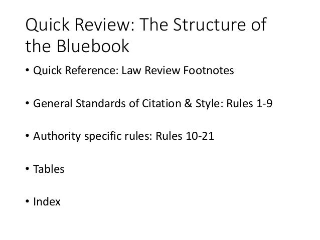 Bluebook bootcamp for law review 3 ccuart Image collections