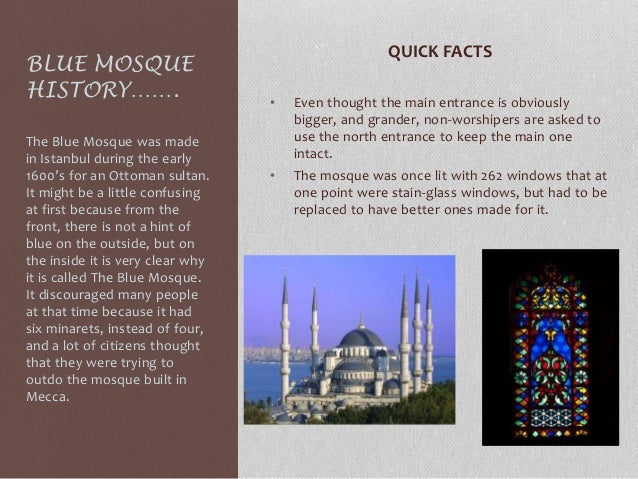 The blue mosque Slide 2
