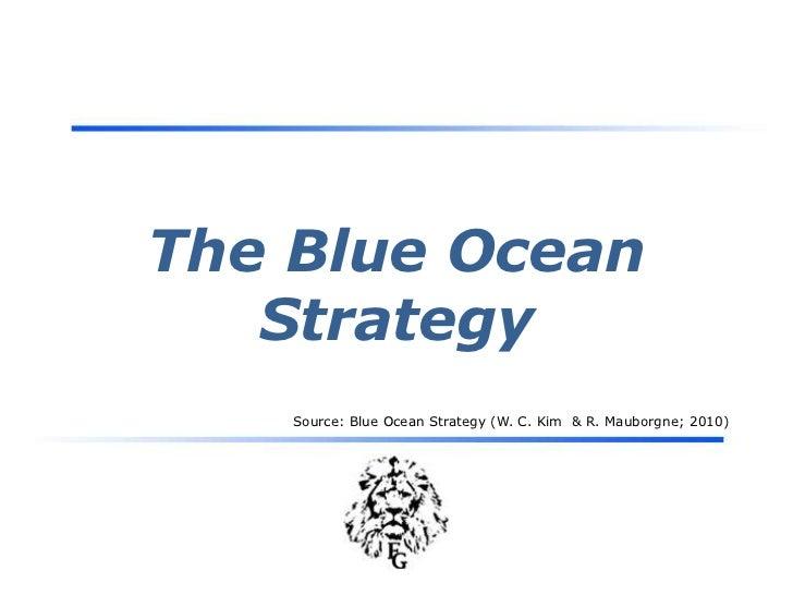 The Blue OceanStrategy<br />Source: Blue Ocean Strategy (W. C. Kim  & R. Mauborgne; 2010)<br />