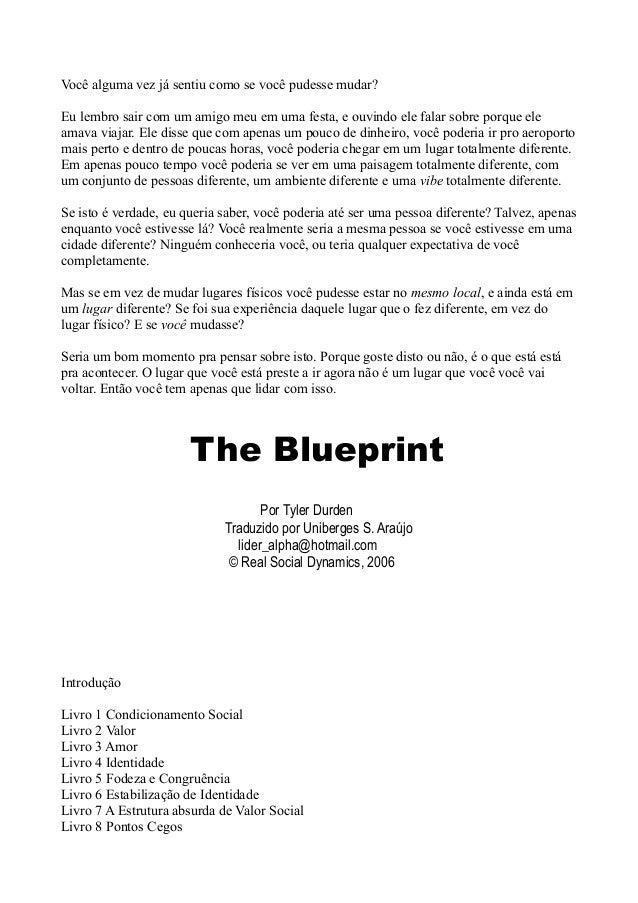The blueprint tyler durden voc alguma vez j sentiu como se voc pudesse mudareu lembro sair com um livro malvernweather Choice Image