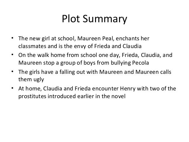 Plot Summary• The new girl at school, Maureen Peal, enchants her  classmates and is the envy of Frieda and Claudia• On the...