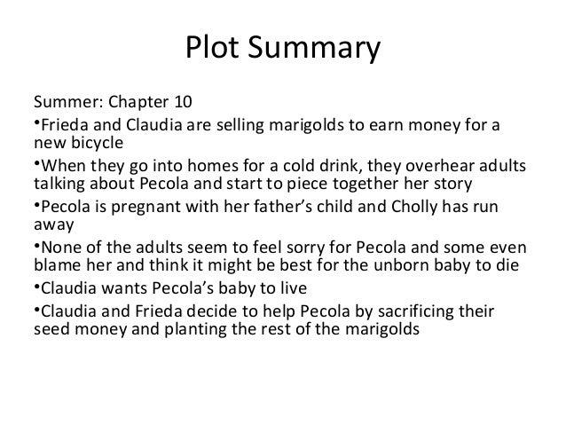 a summary of the story the bluest eye The bluest eye summary and study guide  who explains that she has returned to pecola's story in an effort to understand why and how such a tragedy could have.